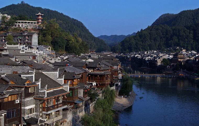 湖南沅江冬季的风景图